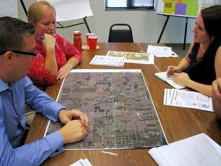 Using community input, the Ball State University students created three different potential downtown development scenarios.  These were presented to the community, the Imagine McCordsville Steering Committee and the Town Council.