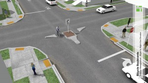 Specific infrastructure improvements called for in the Plan include installing a designated bicycle boulevard.