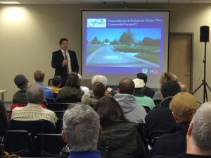 The Town of Fishers held two community forums to gather public input for the Bicycle and Pedestrian Master Plan.